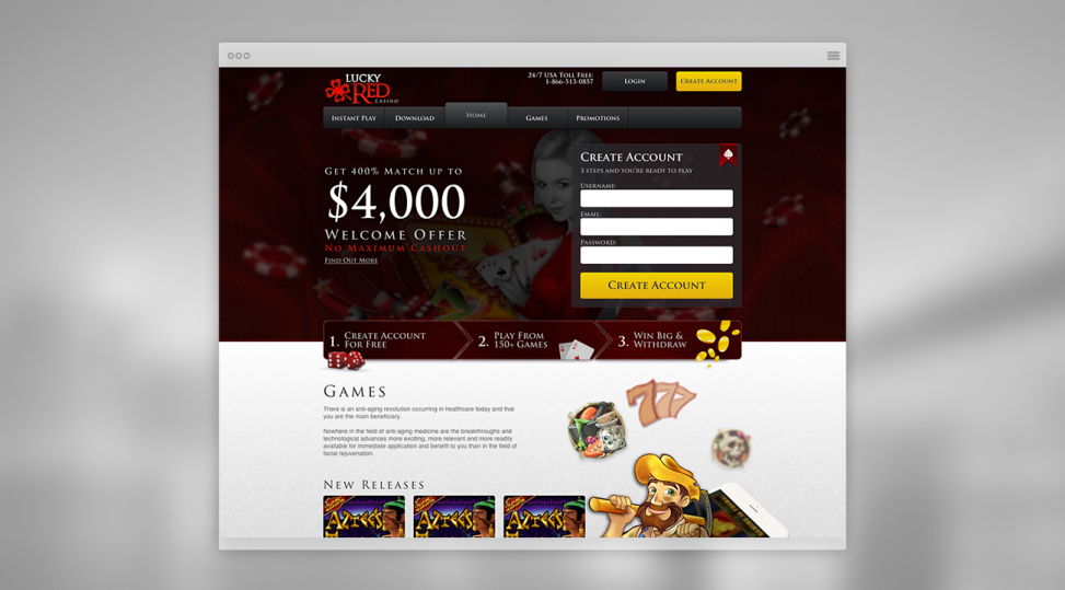 lucky red casino website