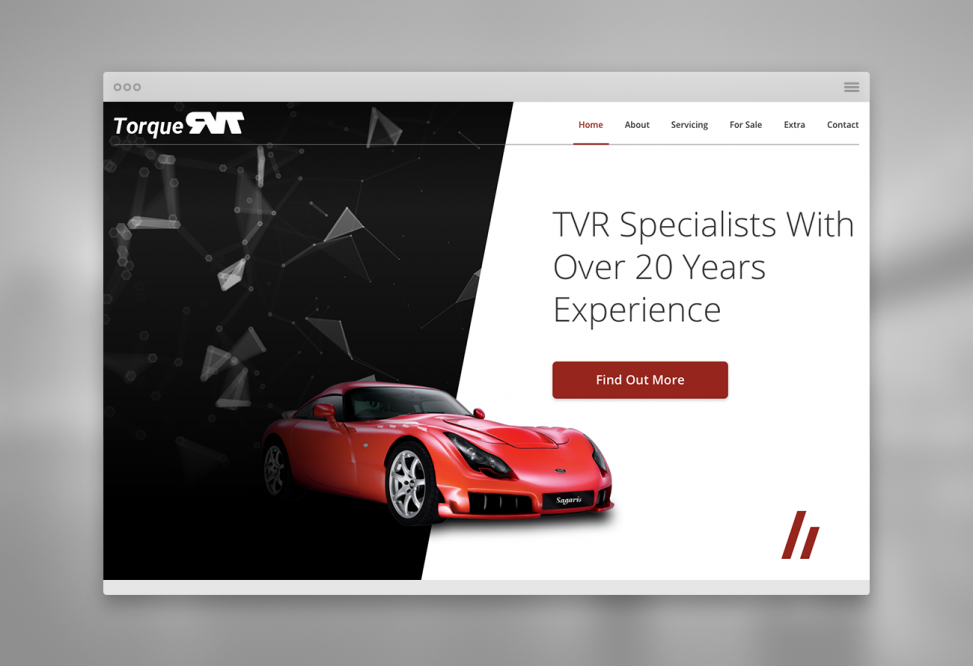 Torque RVT home page top section