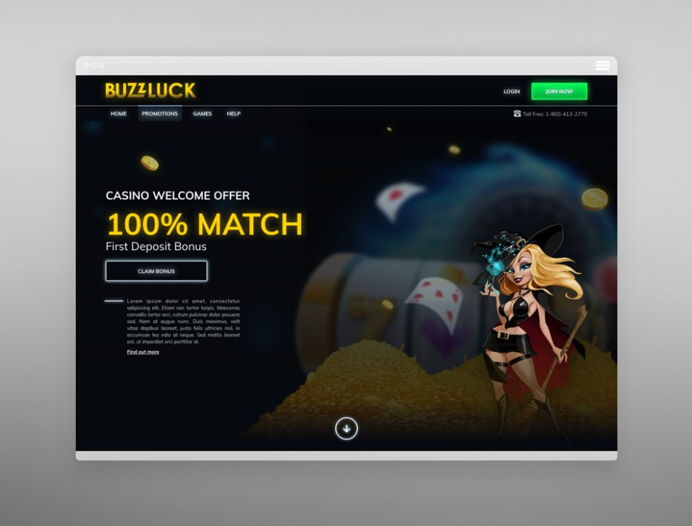 Buzzluck Casino Promotion Screen