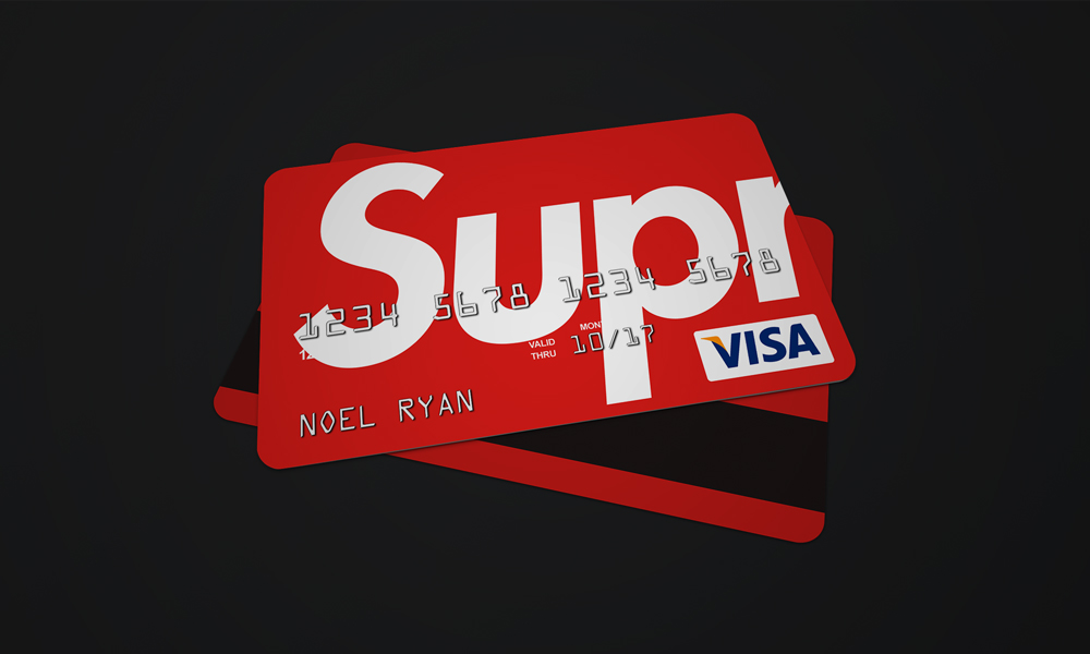 Supreme bank card