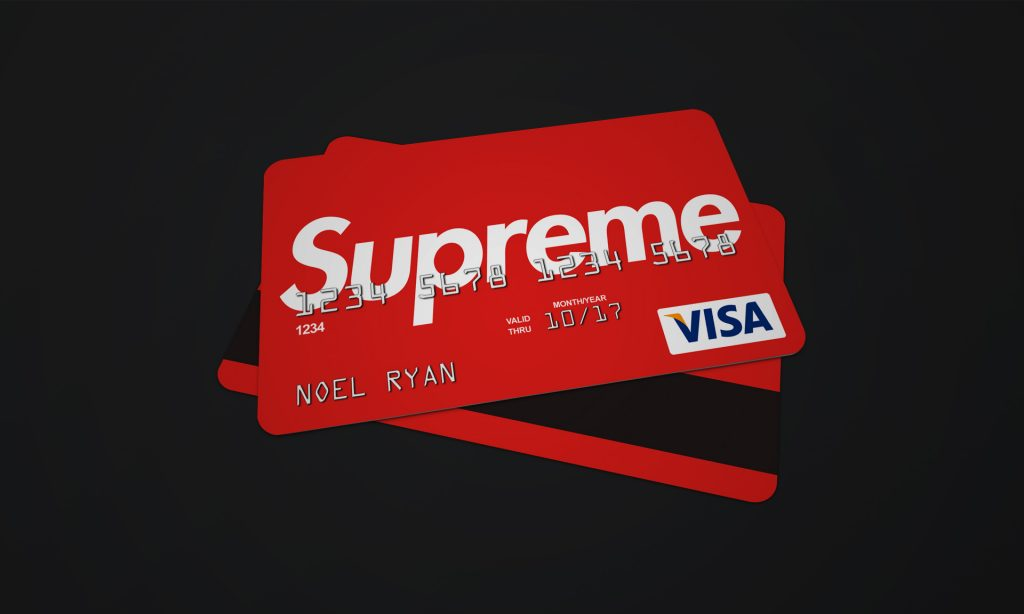 Supreme bank card full logo